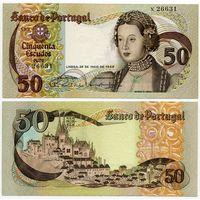 Португалия. 50 эскудо (образца 1968 года, P174a, подпись 1, aUNC)