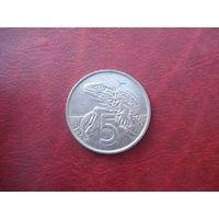 5 центов 1997 год Новая Зеландия