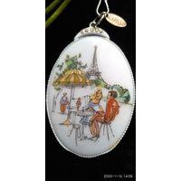 "Кулон- подвеска винтажный "" Летний вечер в Париже"" 60-е годы. Франция.6,5х4,5 см"