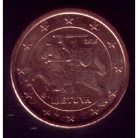1 евроцент 2016 год Литва