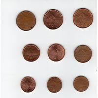 Евроценты Словакия любая монета 0.7 рубля