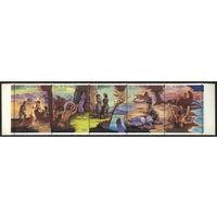 СССР 1989. Творчество Дж.Фенимора Купера. Сцепка. (#6128-32) Полная серия. MNH