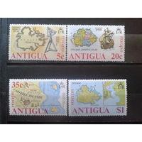 Антигуа 1975 Карты островов* Полная серия