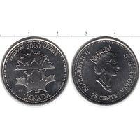 Канада 25 центов 2000 Свобода UNC