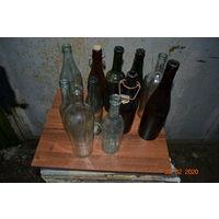 Лот старых бутылок
