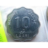Мальдивы 10 лари 2001 г.