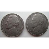 США 5 центов 1964, 1991 P гг. Цена за 1 шт.