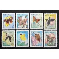Вьетнам 1983 г. Бабочки. Насекомые. Фауна, полная серия из 8 марок. Чистая #0069-Ч1P8