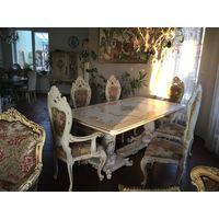 Прекрасный стол и шикарные 6 стульев