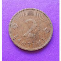 2 сантима 1992 Латвия #05