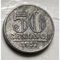 Бразилия 50 сентаво, 1957 1-8-2