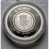 Нидерланды 5 евро, 2006 200 лет Налоговому ведомству Нидерландов  3-3-11