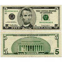 США. 5 долларов (образца 1999 года, P505)