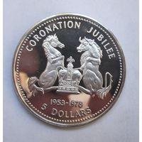 Соломоновы о-ва, 5 долларов, 1978, серебро, пруф