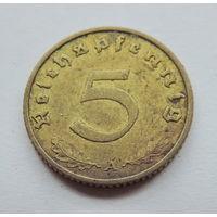 """Германия, 5 пфеннигов 1938 год. Монетный двор """"А"""""""
