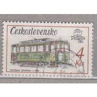 Железная дорога Трамвай Praga 88 Международная выставка штампов - технические памятники 1987г Чехословакия   лот 3