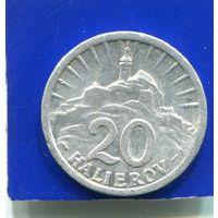 Словакия 20 геллеров 1942