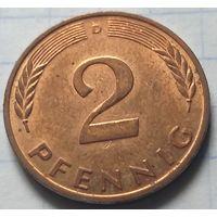 Германия 2 пфеннига, 1987        D         ( 6-6-3 )