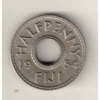 Фиджи 1/2 пенни 1954