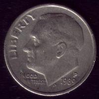 1 дайм 1989 год P США