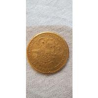 Монета 900 проба 20 долларов