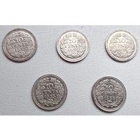 Нидерланды 10 центов, 1935 6-4-10*14