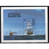 Корабли Морской бой Антигуа и Барбуда 1988 год 1 чистый блок (М)