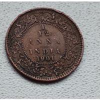 Индия - Британская 1/12 анна, 1901 6-3-49