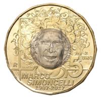 5 евро 2017 года Сан-Марино мотогонщик Марко Симончелли