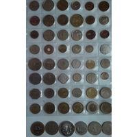 Подборка монет Африки и Ближнего Востока 54 шт
