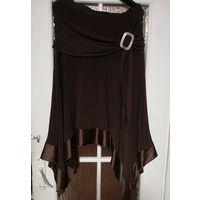 Красивая трикотажная юбка, на р-р 48-50