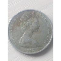 Новая Зеландия 1шиллинг/10пенсов/ 1967г.