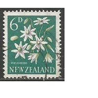 Новая Зеландия. Цветы. Клематис метельчатый. 1960г. Mi#399.