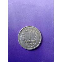 Франция 1 франк 1957 год