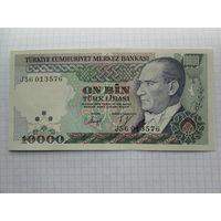 Турция. 10 000 лир (образца 1989 года, P200, UNC)
