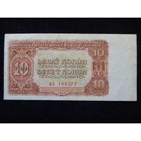 Чехословакия 10 крон 1953 г