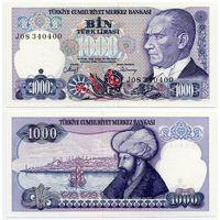 Турция. 1000 лир (образца 1986 года, P196, подпись 2, UNC)