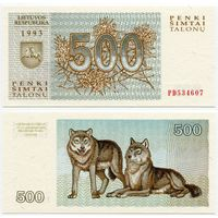 Литва. 500 талонов (образца 1993 года, P46, UNC) [серия PD]