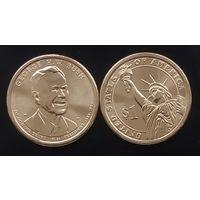 США 1 доллар, 2020 Президент США - Джордж Герберт Уокер Буш (1989-1993)