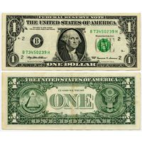 США. 1 доллар (образца 1999 года, B, Нью-Йорк, P504)
