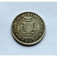 Португальский Мозамбик 20 эскудо 1952 г (серебро) !!!РАСПРОДАЖА PORTUGAL!!! СТАРТ С 2,15!!!