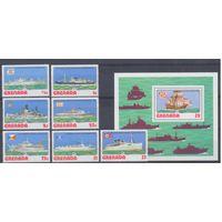 [244] Гренада 1976.Корабли,парусник.