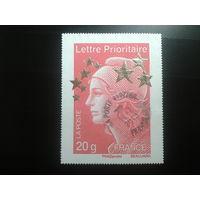 Франция 2012 стандарт, марка из блока