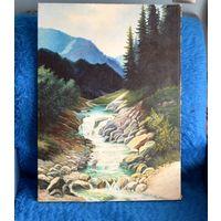 Картина холст,масло 62х45 см.с рубля за Вашу цену.