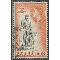 Барбадос. Королева Елизавета II. Мемориал Нельсона. 1953г. Mi#206.