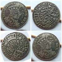 """6 грошей 1757 года """"С"""", Пруссия, Фридрих Вильгельм, поворот штемпеля!!! Отличное состояние!!!"""
