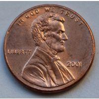 США, 1 цент 2001 г.