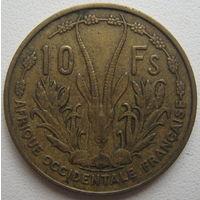 Французская Западная Африка 10 франков 1956 г. (d)