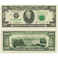 США. 20 долларов (образца 1990 года, B, Нью-Йорк, P487, aUNC)