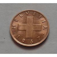 1 раппен, Швейцария 1967 г.